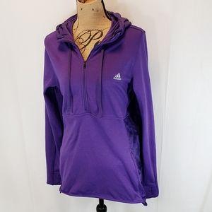 Adidas Purple High Low Half Zip Hoodie